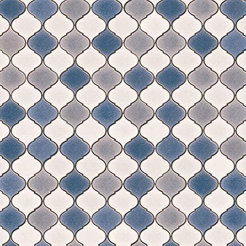 サンゲツ クッションフロア DIY 住宅用 パターン・デザイン (モロッカンタイル風) (長さ1m x 注文数) HM-4136 (旧HM-1125)