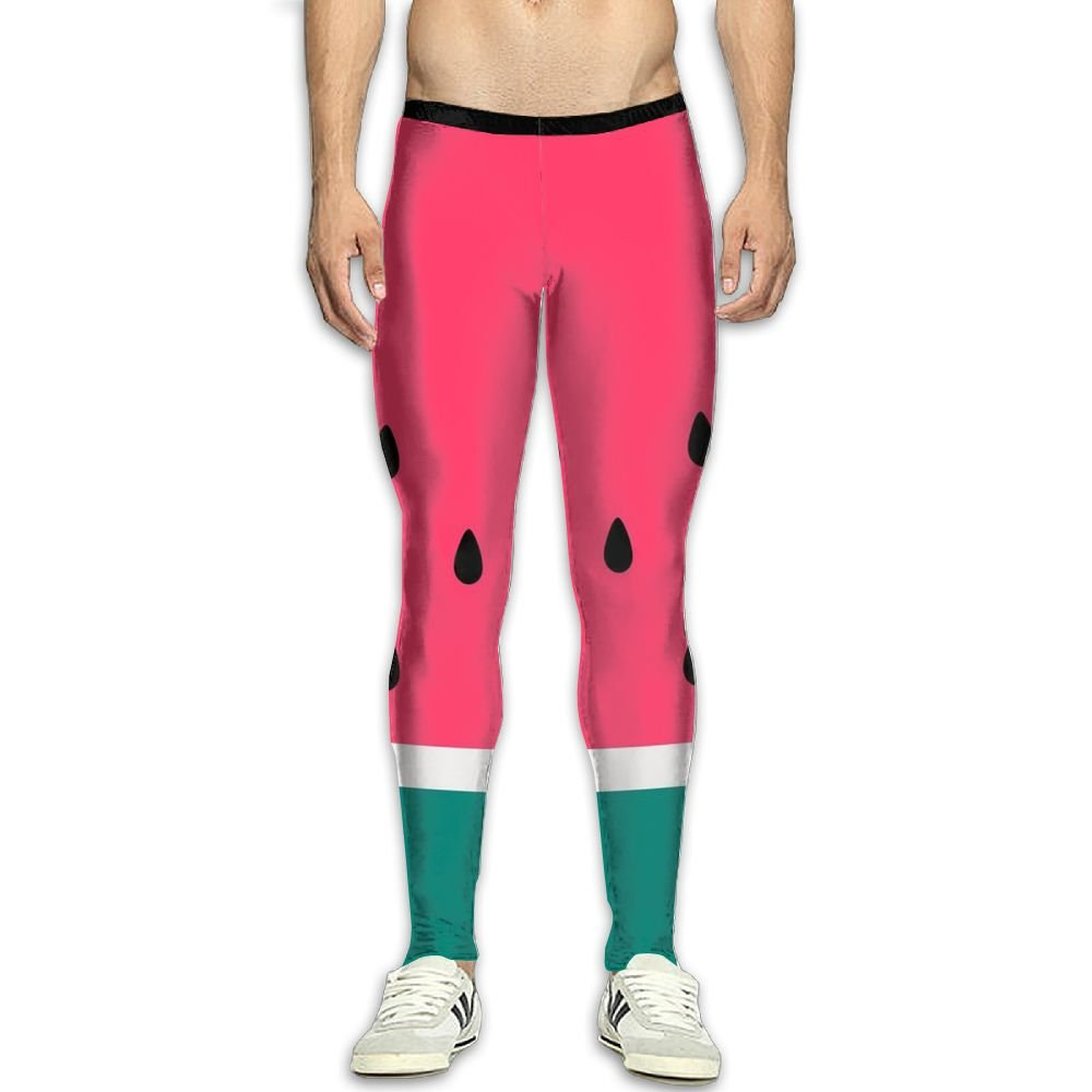 b4894ac0e6c2af Amazon.com: CXGHWE Men¡¯s Compression Watermelon Pants Baselayer Running  Tights 3D Print Fitness Sports Leggings: Clothing