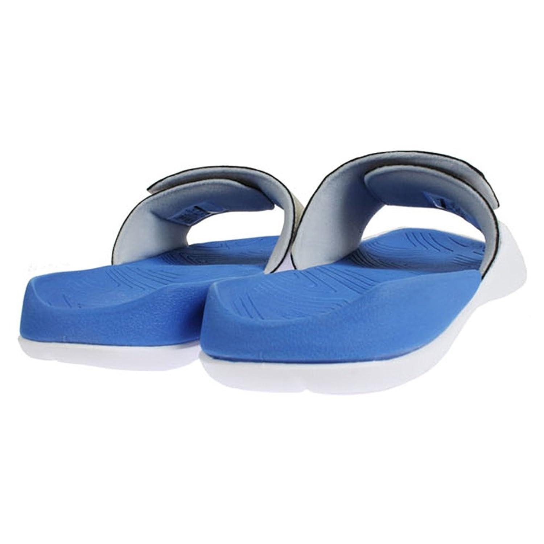 93c133d56c6e Nike Grade School Air Jordan Hydro 7 Retro Slide Sandals Wolf Grey Hyper  Royal