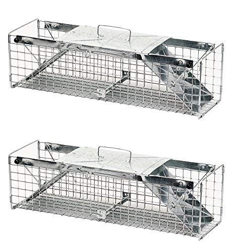 Havahart 1030 Live Animal Two-Door Rabbit, Squirrel, Skunk, and Mink Cage Trap (Pack of 2)