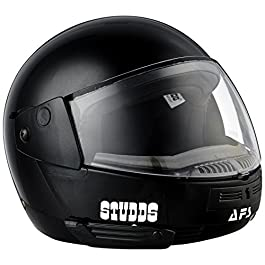 Studds Ninja Elite SUPER Flip Up Full Face Helmet (Black, L)