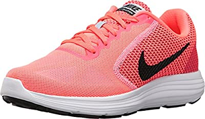 NIKE Women's Revolution 3 Running Shoe, Hot Punch/Black/Aluminum White, 5 B(M) US