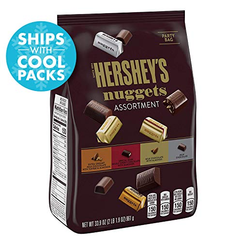 HERSHEY'S Nuggets Assortment, Chocolate Candy, 33.9 Ounce Bag (Cookies With The Hershey Kiss On Top)