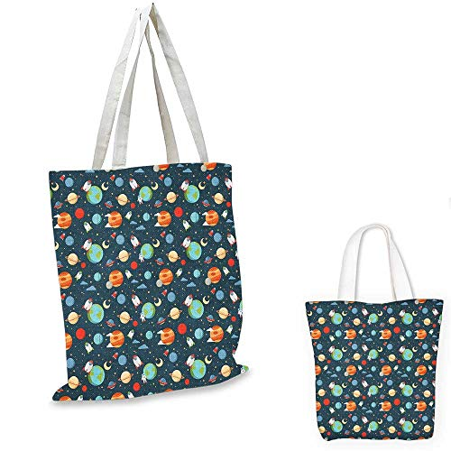 - Boys shopping tote bag Cartoon Style Astrological Concepts Earth Mars Saturn Neptune Astronaut and Craft sloth shopping bag Multicolor. 16
