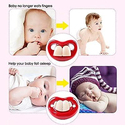 GerTong Chupete Divertido para el bebé recién Nacido Infantil, Creativo Dientes Grandes pezones Chupete para el bebé recién Nacido Regalo Libre de BPA: Amazon.es: Hogar