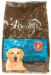 4health Tractor Supply Company Grain Free Adult Dog Food, Whitefish & Potato Formula, 4 lb Bag