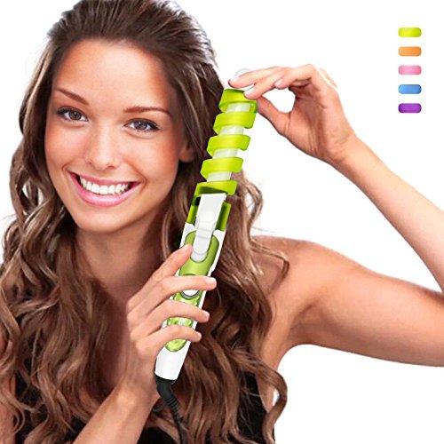 SexyBeauty Professional Portable Hair Salon Spiral Curl Ceramic Curling Iron Hair Curler Waver Maker (green)