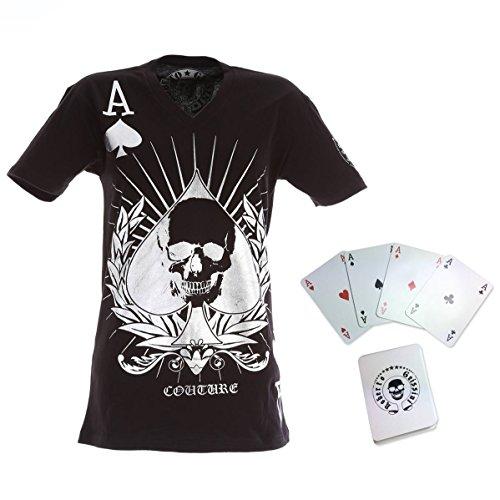 *NEU* Roberto Geissini Poker-Shirt inkl Kartenspiel XL