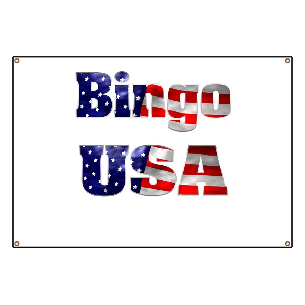 CafePress Bingo USA - Vinyl Banner, 44''x30'' Hanging Sign, Indoor/Outdoor