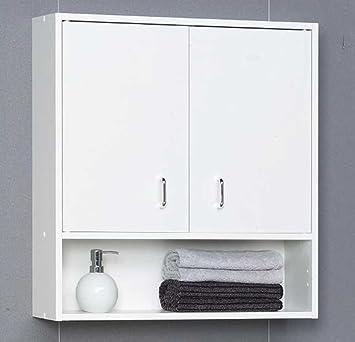 Badezimmer hängeschrank weiß  Bad Hängeschrank weiss zweitürig Bouquet Pharao24: Amazon.de ...