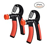 IEIK Hand Grip Strengthener with Adjustable Resistance 11-110 Lbs (5-55KG), Hand Grip Strength Trainer Kit Non-slip Gripper Arm Hand Exerciser Relieve Stress and Anxiety, 2 Packs