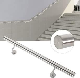 EBTOOLS Pasamanos de Acero Inoxidable 80 cm, Barandilla de Escalera de Seguridad, Barandilla de Pared para Escaleras Internas Externas, Barandas de Balcón Escalera: Amazon.es: Hogar