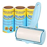 Lint Roller - Pet Hair Remover Rollers - Extra Sticky Lint Remover Brush with 3 Refills, 240 Sheets Total - Best for Dog & Cat Fur Removal -Easy to Remove Sheets with Durable Handle & Dust Cover