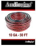 12 ga car speaker wire - 50' AUDIOPIPE 10 GA GAUGE RED BLACK ZIP WIRE SPEAKER CABLE COPPER CLAD CAR AUDIO STEREO #10-50RB