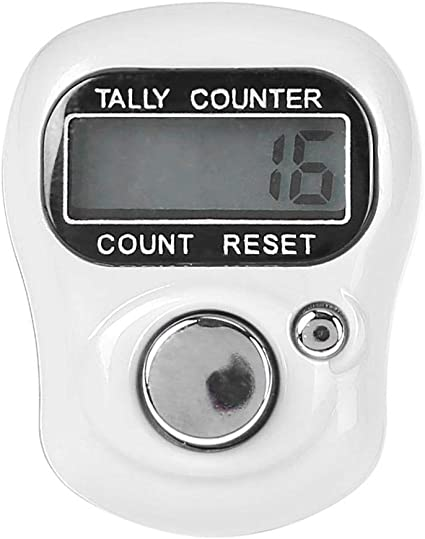 Plastic Stitch Marker Row Finger Ring Counter Electronic Digital Tally Counter
