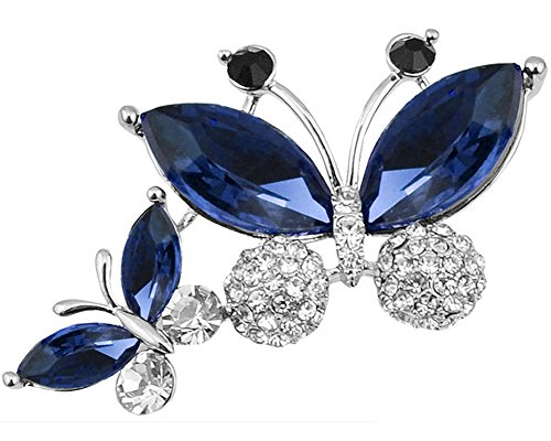 Joyfulshine Silver Plated Butterfly Crystal product image