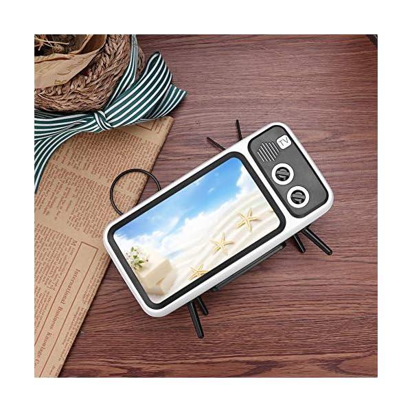 Domybest Enceinte Bluetooth Portable Mini Haut-Parleur Bluetooth Support de Téléphone de Forme TV Rétro Lecteur de Musique Sound Box Bluetooth Portable sans Fil 3