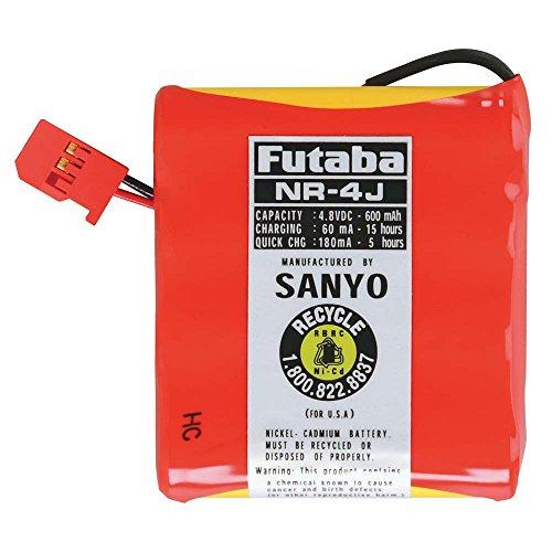 Futaba NR4J Rx NiCd Flat 4.8V 600mAh J Receiver Battery ()
