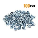 T-Nut, RileAwhile 1/4''-20 x 5/16'', by Bolt Dropper, T-Nut Pronged Tee Nut for Wood, Rock Climbing Holds, Cabinetry, etc. 100 Pack