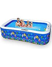 Taiker Inflatable Swimming Pools, Kiddie Pools, Family Lounge Pools, Large Family Swimming Pool for Kids, Adults, Babies, Toddlers, Outdoor, Garden, Backyard