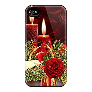 New Style CecilRayThomas Hard Case Cover For Iphone 4/4s- Christmas Cle Bright