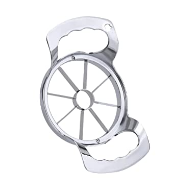 Apple Slicer Apple Corer, 100% Non-Magnetic Stainless Steel Blades, 8 Slices Sturdy and Firm
