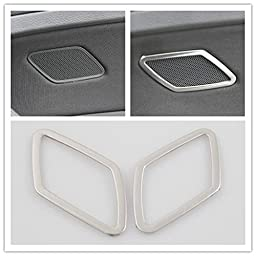 Ryvox(TM) Car special stainless steel rear door speakers decorative sequins decorative frame modification for vw Golf 7 MK7 2013 2014