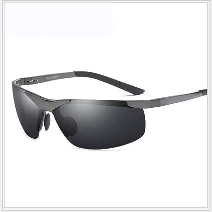 Shisky Gafas Deportivas, Gafas de Sol Medio Marco Gafas de Sol de Aluminio de los