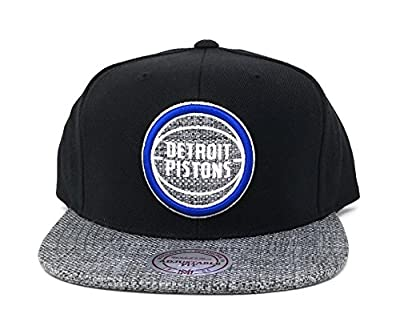 Mitchell & Ness Men's Black/Grey NBA Detroit Pistons Snapback Cap