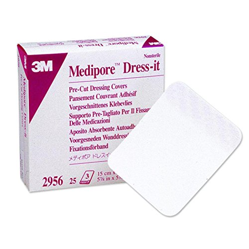 Cover Adhesive Dressing Self (3m Medipore Dress-It Pre-Cut Dressing Covers 3.875 in. x 4.625 in./Box of 25)