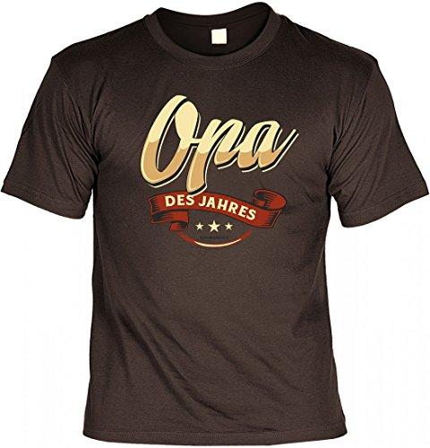 T-Shirt Spruchshirt als Geschenk - Opa des Jahres - witziges Funshirt für den Opa zum Geburtstag oder zu Weihnachten