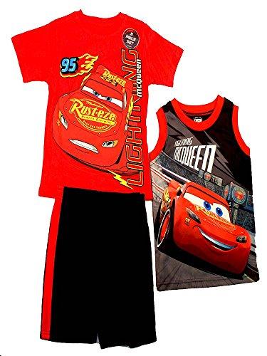 - Disney@ Pixar Cars 3 Lightning McQueen Graphic Short Set Toddler Boy (2T)