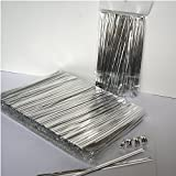 """Weststone - 1000pcs 4"""" SILVER metallic twist ties foil twist ties for cello bags treat bags in birthday party wedding party"""