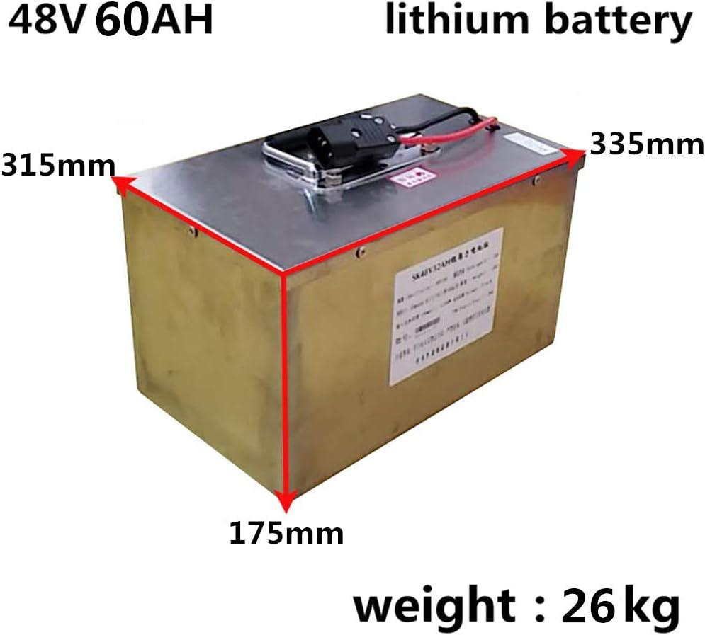 SHUNBIN High Power 2000W 48V 20AH 30AH 40AH 60AH Batterie de v/élo /électrique 48Volt 20AH E-Bike Scooter Batterie Lithium Batterie avec BMS