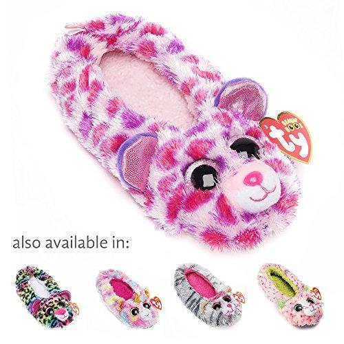 Galleon - TY Beanie Boos Kids Girls Plush Glamour Leopard Non Skid Slipper  Socks 0f28c0aec5ce