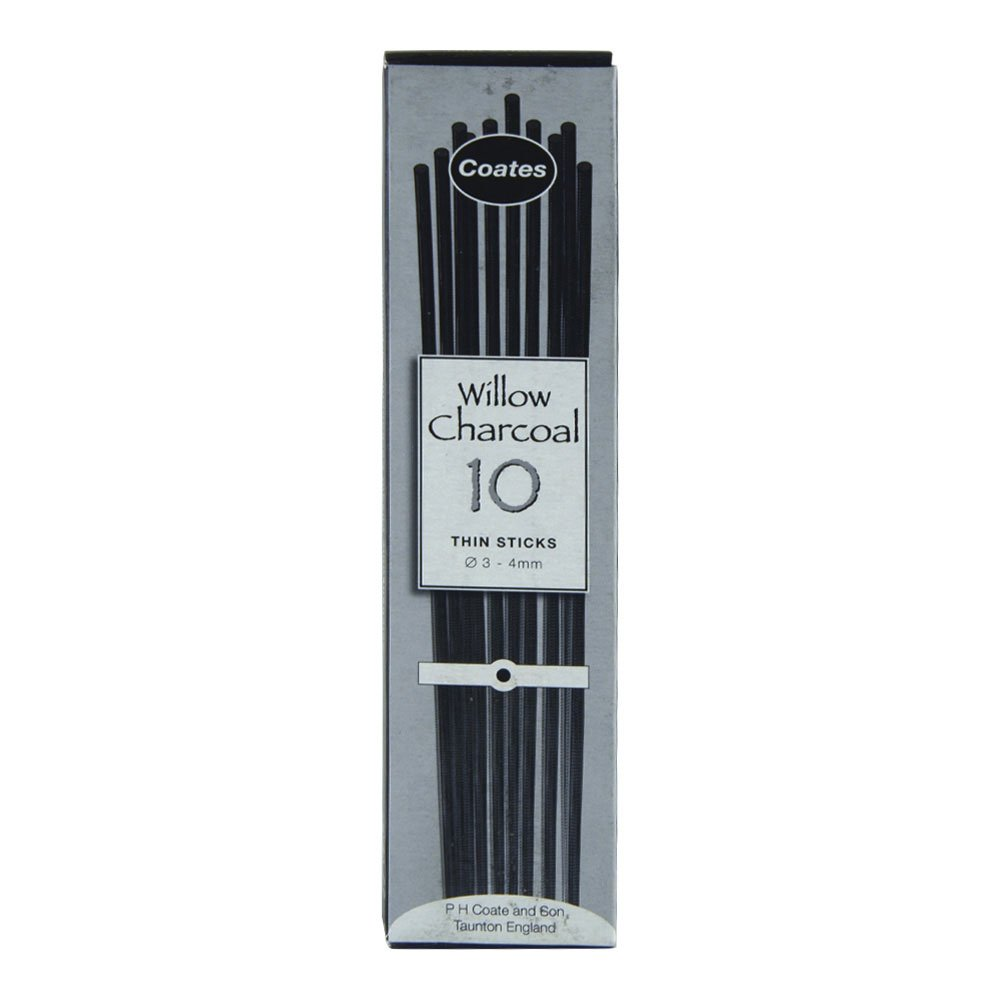 Coates 10 Thin Willow Charcoal Sticks by PH Coates