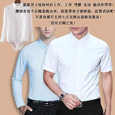 RSL Vestimenta Profesional Color sólido Camisa de Manga Larga Vestido de Negocio de los nuevos Hombres con los Pantalones Siameses Camisa de Color Negro Blanco (Color : Blue1, Size : 5XL): Amazon.es: