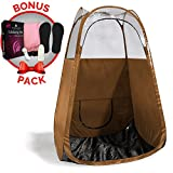 Spray Tan Tent (Bronze) The Best, Bigger Than Others, Folds Easily In 30 Seconds and Has NO Logo On Tent Itself! Professional Sunless Tanning Pop-Up Spraying Booth for Airbrush Art, Makeup & Painting Review