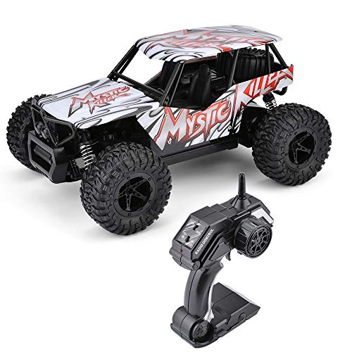 STOTOY Remote Control Car,High Speed Off Road Monster RC Truck - 1/16 Scale 2WD 2.4Ghz Radio Controlled Electric Truggy - Best Gift for Kids and Adults (Red)