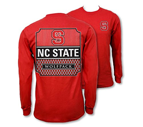 Nc State Wolfpack Classic Shirt (Southern Couture SC Collegiate Preppy NC State on Long Sleeve Womens Classic Fit T-Shirt - Red, Large)