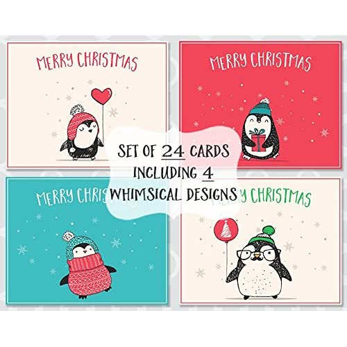 penguin christmas cards variety of whimsical holiday season card prime adorable balloon - Christmas Card Sale