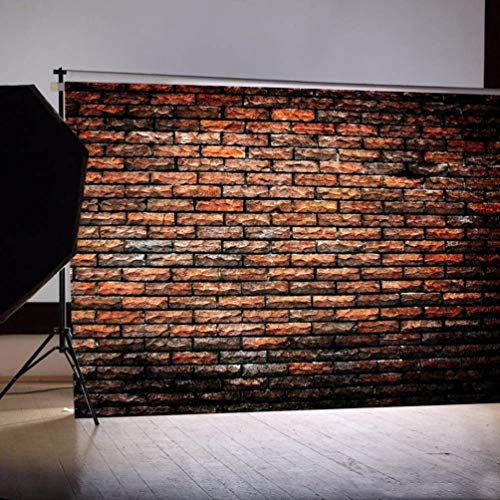 (vmree Indoor Photographic Studio Backdrop, 3D Lifelike Brick Photo Shooting Background Props Wall Hanging Screen Post-Production Curtain Folding & Washable Art Cloth 5x3FT.)