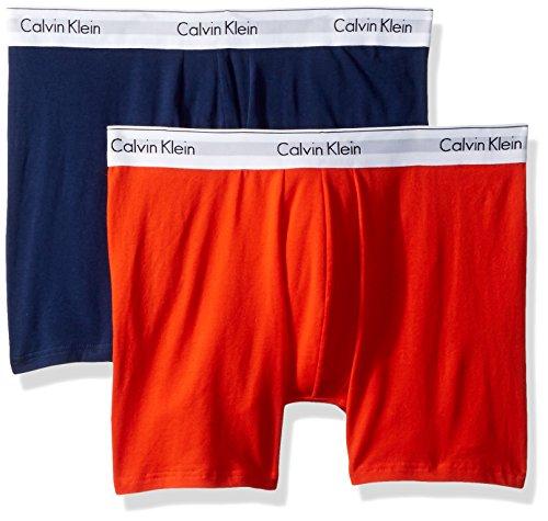 (Calvin Klein Men's Underwear Modern Cotton Stretch Boxer Briefs, Oriole/Tuscan Navy,)