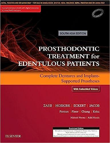 Amazon com: Prosthodontic Treatment for Edentulous Patients