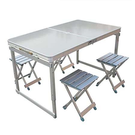 4 sillas Mesa plegable Mesa de comedor Mesa de jardín al aire ...