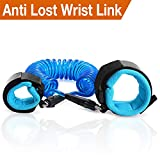 GOOOA Anti Lost Wrist Link, Toddler leash,Child Safety Leash, Walking Harness Belt, Anti Lost Wrist Rope for Toddlers, Babies & Kids (Blue, 1.5m)