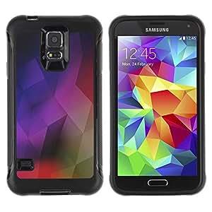 LASTONE PHONE CASE / Suave Silicona Caso Carcasa de Caucho Funda para Samsung Galaxy S5 SM-G900 / Geometrical Structure Modern Art Colorful