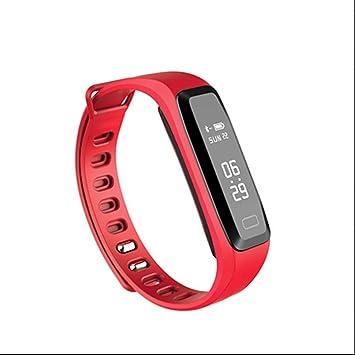 Timefewnow Fitness Bluetooth reloj de pulsera Smart Tracker podómetro Pulsómetro Tensiómetro de dormir sentada Recuerdo Contador