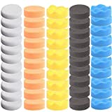 ZFE 50pcs 80mm (7,6cm) Alta Polaco Bruto Pulido Buffer Pad Kit para pulidora de Coche