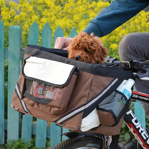 QNMM Cesta De Bicicleta para Mascotas Bolsa De Viaje Bolsa De Bicicleta para Perros Gato Cesta De Cesta Plegable para...